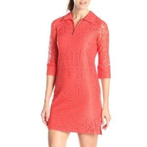 Adrianna Papell Lace Overlay Shift Dress Size 6